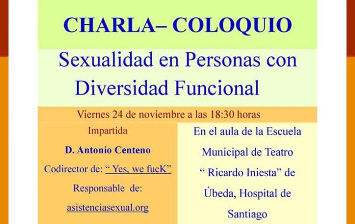 Charla-Coloquio: Sexualidad en personas con Diversidad Funcional