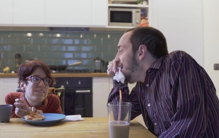 Sara y Oriol en una escena del programa