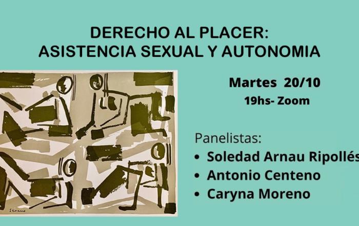 """Seminario """"Derecho al placer: asistencia sexual y autonomía"""""""