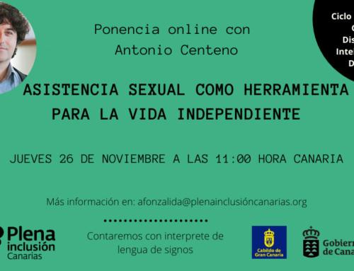 Ponencia on line: La asistencia sexual como herramienta para la vida independiente